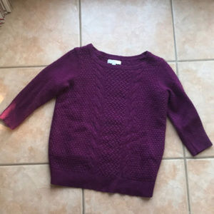 3/$30 LOFT Maternity Cable Knit Purple Sweater LM
